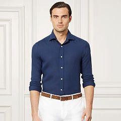 Aston Linen Sport Shirt - Purple Label Standard-Fit - RalphLauren.com