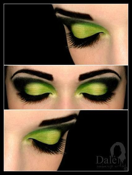 Pretty makeup. Green for a witch, or switch in some red for Little Red, or other colors for other costumes.