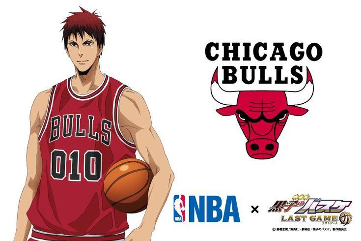 【NBA×劇場版黒子のバスケ】コラボビジュアル第1弾は火神!コラボするチームはシカゴ・ブルズです!これはまさに納得の組み合わせではないでしょうか。かつてマイケル・ジョーダンが在籍していたブルズの赤いユニフォームがとてもよく似合っていますね!