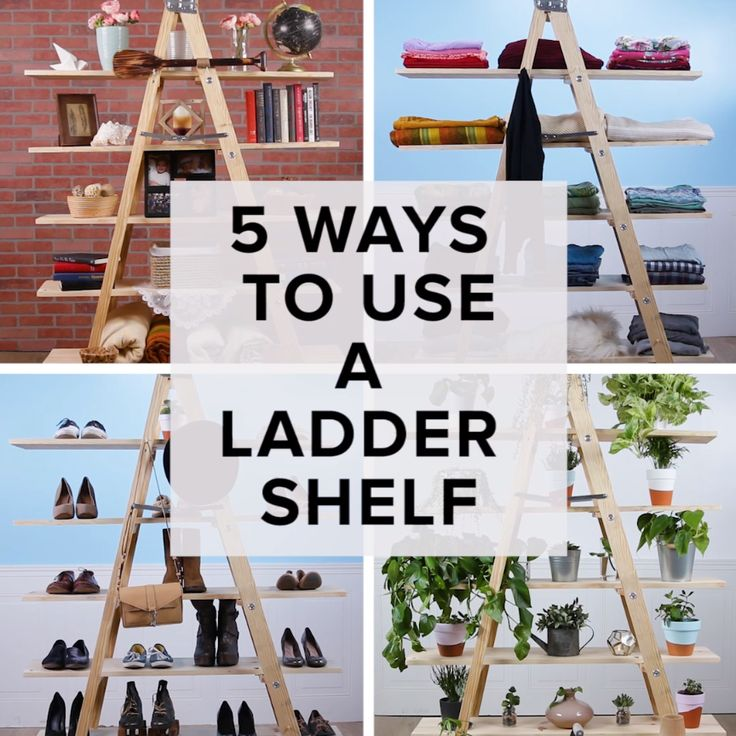 5 Ways To Use A Ladder Shelf // #diy #home #decor #ladder #upcycle #Nifty