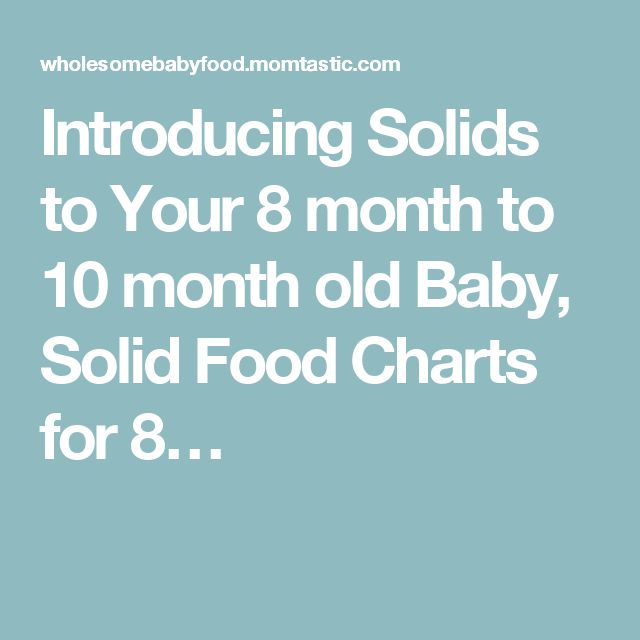 Introducing Solids to Your 8 month to 10 month old Baby, Solid Food Charts for 8…
