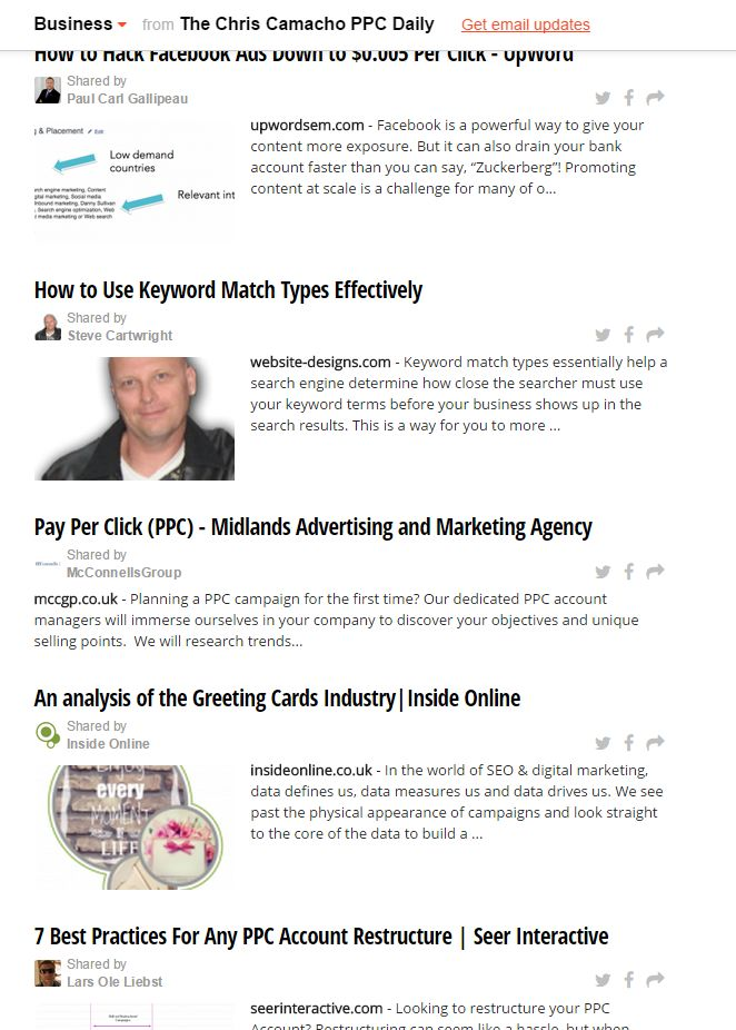 The Greeting Cards Sector Report features in Chris Camacho's PPC Daily #PPC #SEO #Digitalmarketing http://paper.li/ChrisCamachoSMG/1305203860?edition_id=a0825b70-0066-11e5-8ecd-0cc47a0d1605#!business