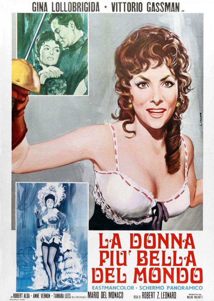 La donna più bella del mondo (Lina Cavalieri), 1955 di Robert Z. Leonard con Gina Lollobrigida e Vittorio Gassman.