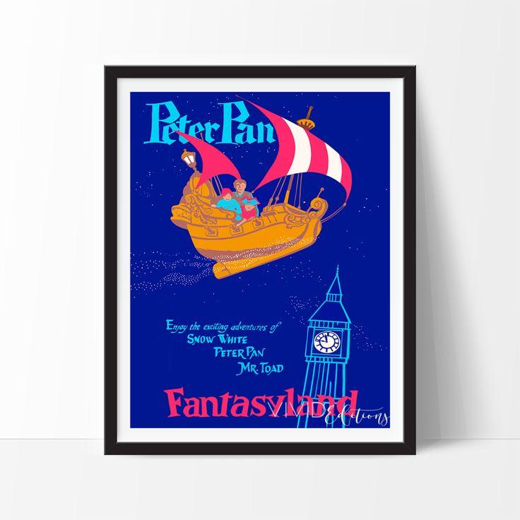 Peter Pan, Disneyland Poster
