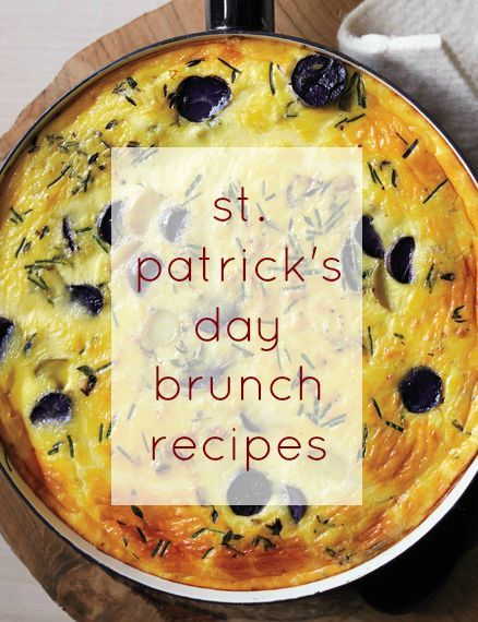 Impress the guests at your St. Patrick's Day brunch with recipes featuring homemade bread, a potato egg bake, sausages and sticky toffee pudding.