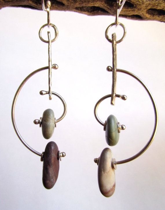 Earrings  Sterling Silver  Modernist Style Hoop by rmddesigns. This lead me to the fabulous wesite of a Californian artist. Beautiful work and unbelievably affordable pricing! Go shop! =)