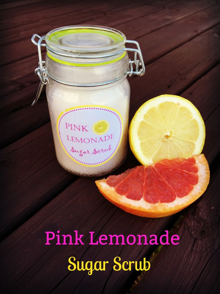 This Pink Lemonade coconut oil sugar scrub will leave your mouth watering for the tangy summer drink!
