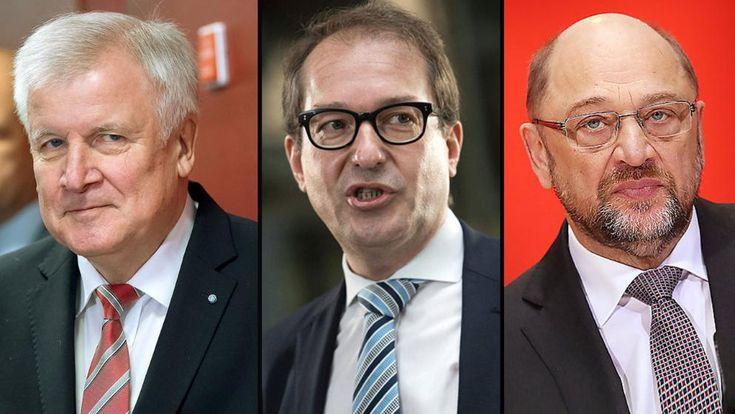 CSU-Chef Horst Seehofer und CSU-Landesgruppenchef Alexander Dobrindt (Mitte) sind nicht bereit, auf alle Forderungen von SPD-Chef Martin Schulz einzugehen
