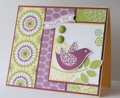 lime and lavender: Stamps Cards, Cards Misc, Birds Cards, Cards Ideas, Scrapbook Cards, Cards Gener, Misc Cards, Favorite Cards, Blossoms Stamps