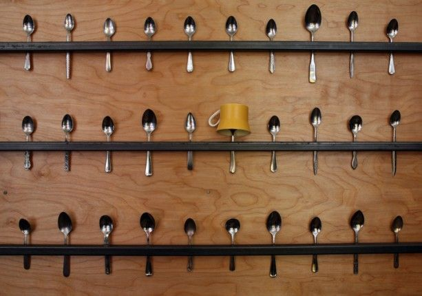 spoons as wall hanging system