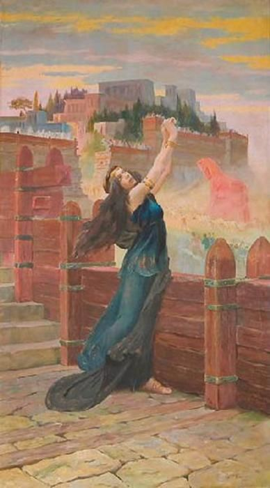 Cassandra on the ramparts of Troy by Gaston Bussière