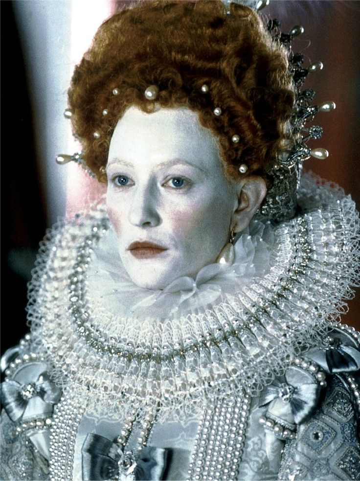 Queen Elizabeth I (Cate Blanchett) 'Elizabeth' 1998. The 'Virgin Queen' costume designed by Alexandra Byrne.