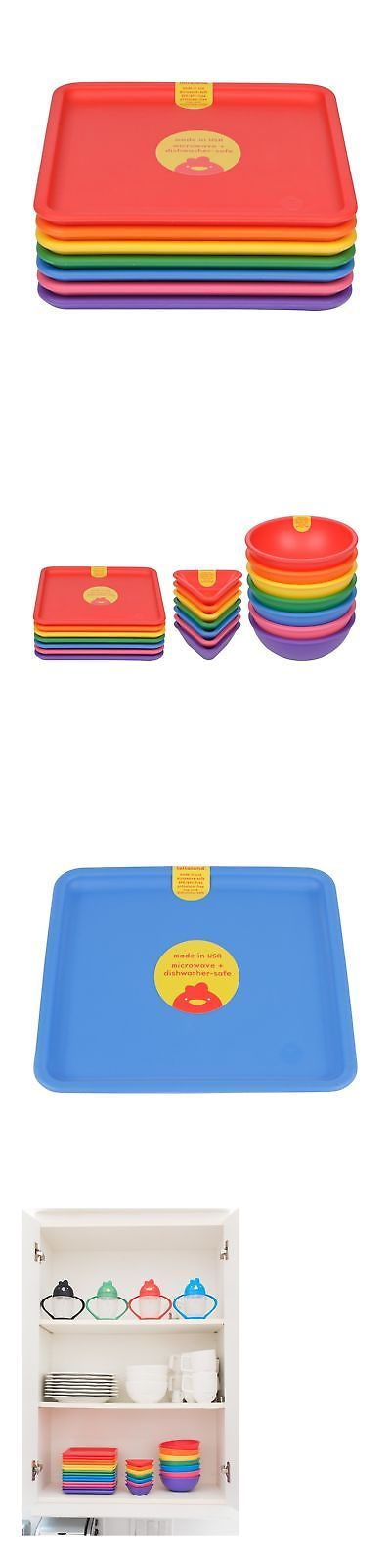 Feeding Sets 117386: Lollaland Plastic Plates For Kids (7-Count Rainbow Assorted): Made In Usa, Mi... -> BUY IT NOW ONLY: $47.69 on eBay!