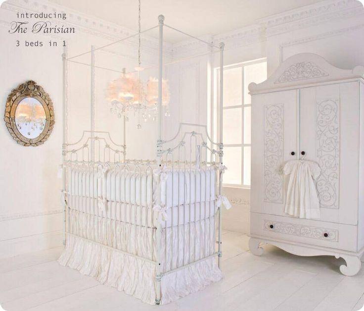 Bellini White Wrought Iron Crib Brattdecor Glamnursery