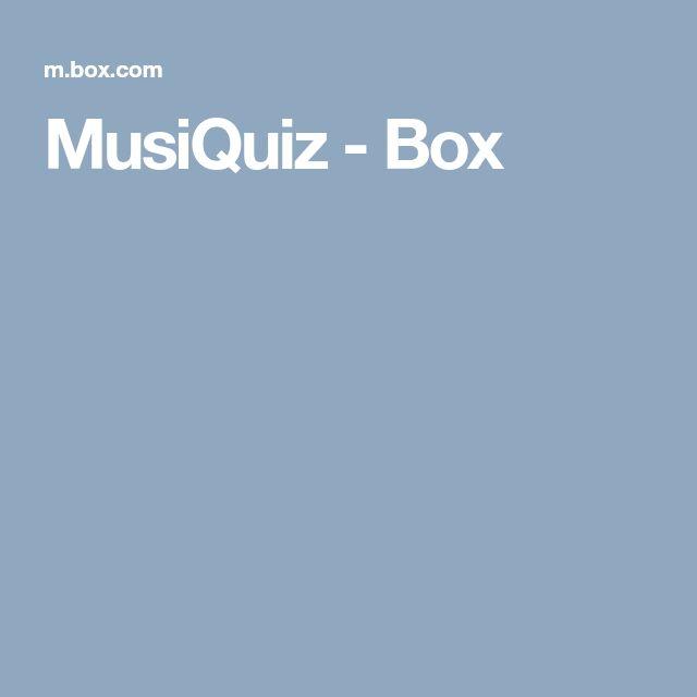MusiQuiz - Box