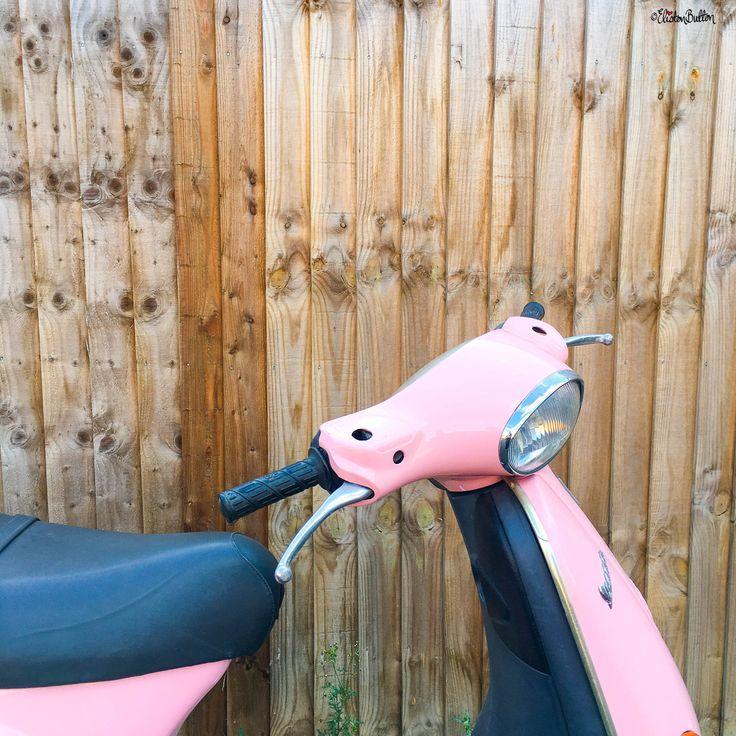 Pink Vespa ET2 - 10 Top Tips for...Moving House at www.elistonbutton.com - Eliston Button - That Crafty Kid – Art, Design, Craft & Adventure.