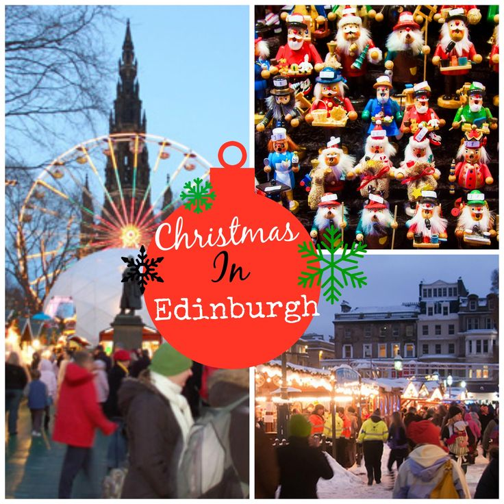 Edinburgh's Christmas Market is just one of the many festive places to celebrate…
