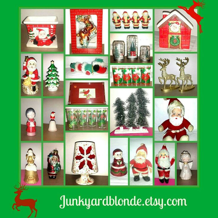 I Welcome all Kitschy Christmas Fanatics like myself  Check out my shop! Many Cool Unique Finds and New Items added Daily!  Use Coupon Code JYBVIP20 For 20% all orders $25 or more. #vintage #christmas #kitsch #holidays #mcm #santa #junkyardblonde