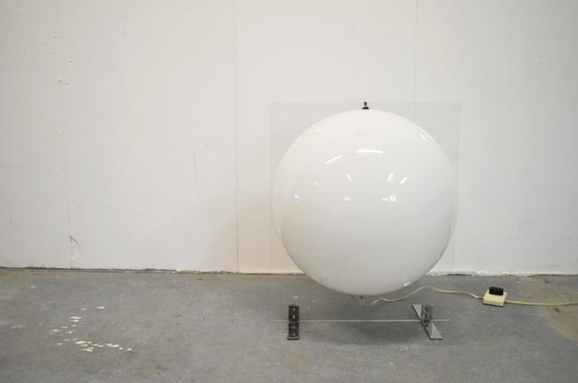 Kunststof vloerlamp, perspex en chroom