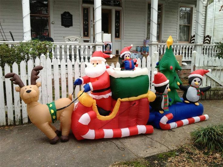 61 Best Santa Sleigh And Reindeer Outdoor Decoration