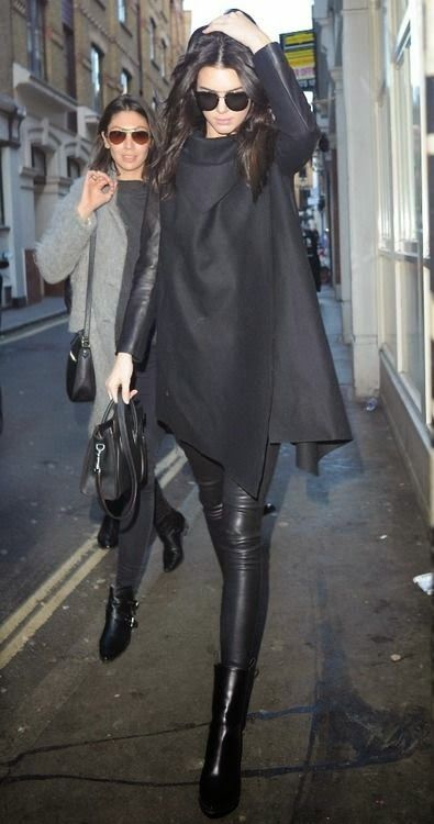 Curating Fashion Style Street Styles Kendall Jenner Edgy Black Leather Fashion Pinterest