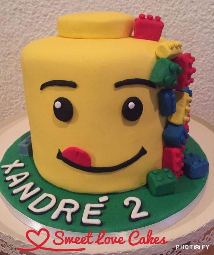 Lego head cake #lego #birthdaycake