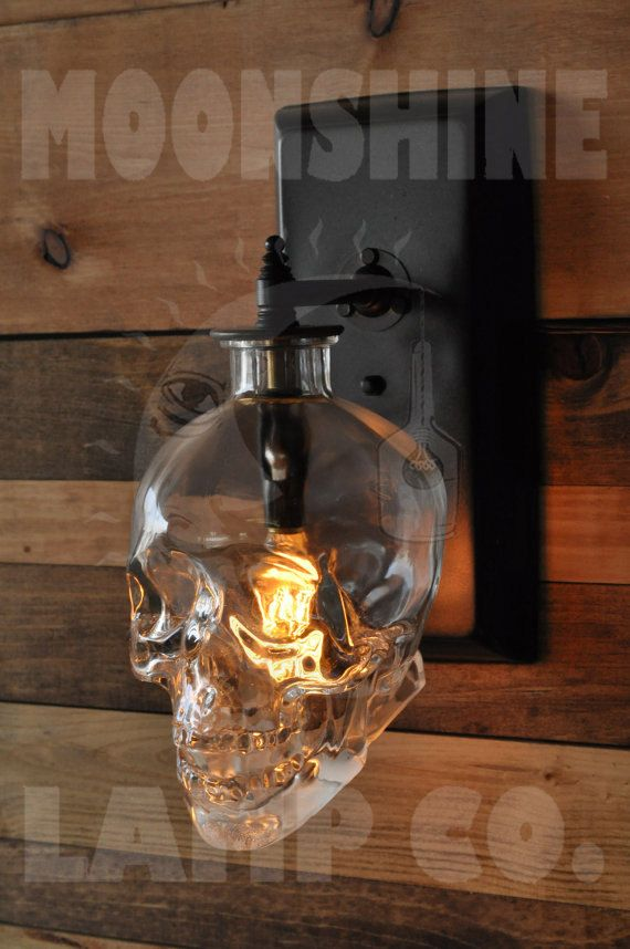 While you can purchase one of these awesome liquor bottle lamps it seems you could probably craft one yourself fairly easily if youre up for a little