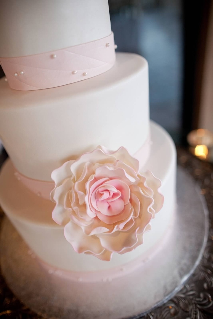 Blush pink wedding cake