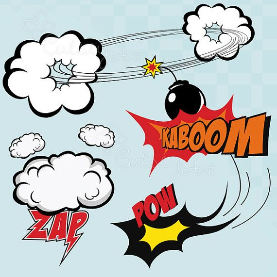 Cute Superhero clip art, hero, comic book, Personal and Commercial Use