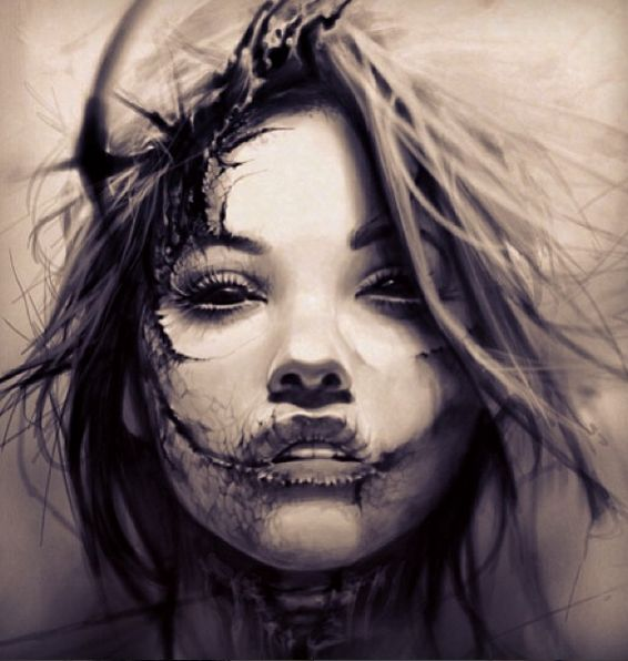 Tattoo Woman Face: 217 Best Images About Broken On Pinterest