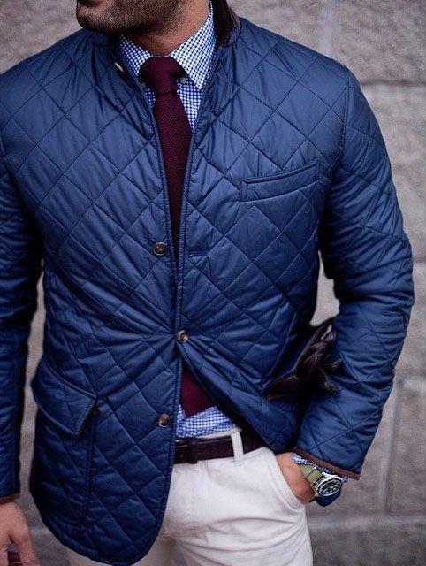 Men's quilted jakcet