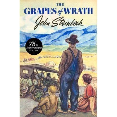 First published in 1939, Steinbeck's Pulitzer Prize winning epic of the Great Depression chronicles the Dust Bowl migration of the 1930s and tells the story of one Oklahoma farm family, the Joads, driven from their homestead and forced to travel west to the promised land of California. See if it is available: http://www.library.cbhs.school.nz/oliver/libraryHome.do