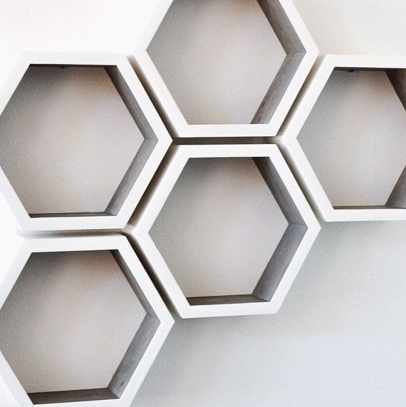 Hexagon Shelves | Honeycomb Shelves | Geometric Shelves | Modern Shelves | Floating Shelves | Wood Shelves