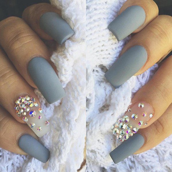 Best 25 rhinestone nails ideas on pinterest nails design with 50 rhinestone nail art ideas prinsesfo Image collections