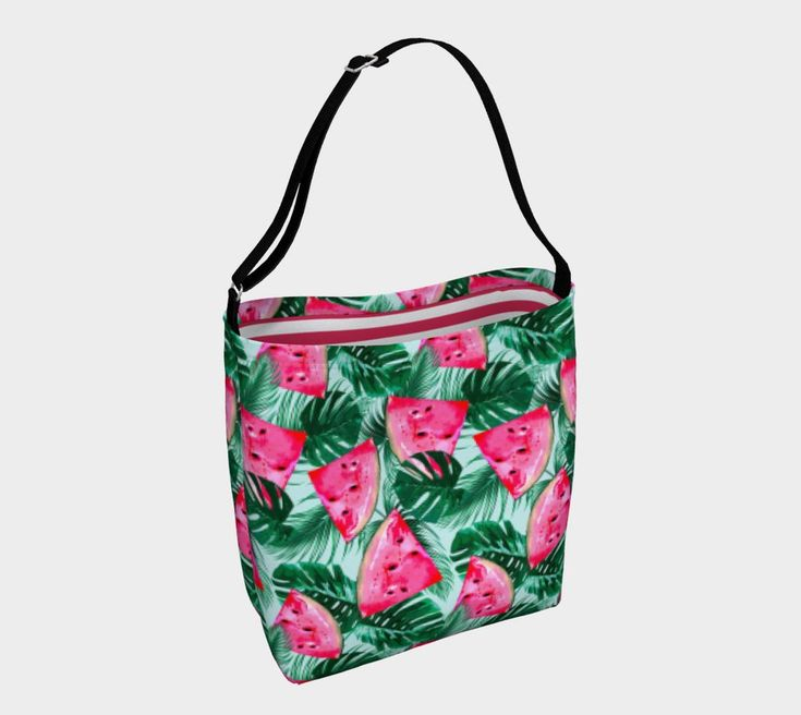 Juicylicious day tote. For more beautiful, eco, handmade yoga and swim leggings, crop tops, mini shorts, kimonos, beanies, and more, go to www.sleepysweats.com.  #leggings #highquality #eco #organic #performance #yoga #surf #surfwear #swim #summer #swimwear #trend #scarves #scarf #beanie #headband #buff #fashion #2018 #kimono #robe #peignoir #bags #totes #handbag #neoprene #gift #idea #lady #woman #mom #babyshower #pregnancy #beautiful