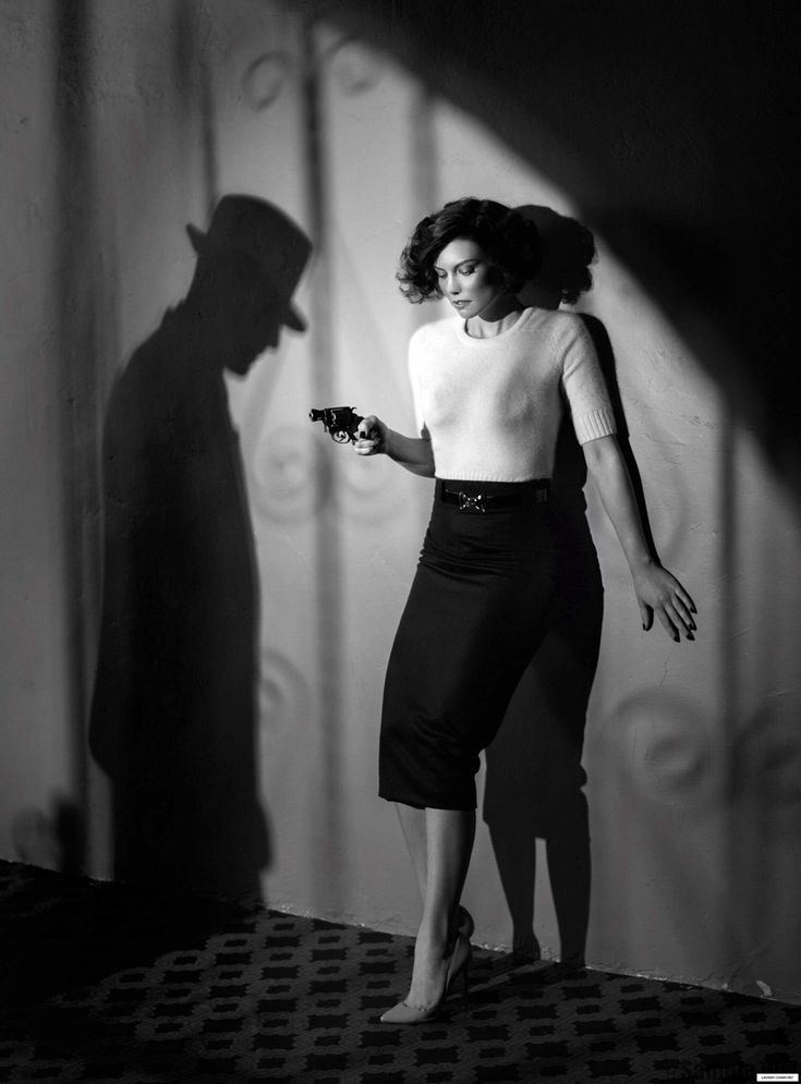 "The Look: Lauren Cohan in ""L.A. Noir"" for S Magazine May 2014"
