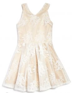 Miss Behave Girls' Embroidered Mesh Flared Dress. Miss Behave at Tween in Style SALE