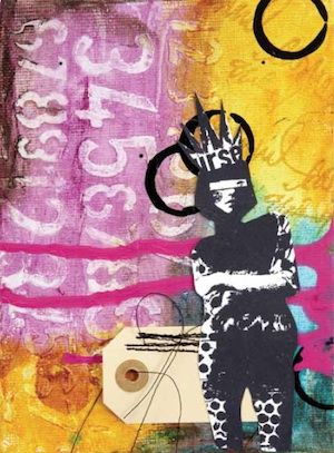 Gel Medium Resist from Art Journal Freedom by Dina Wakley on http://www.createmixedmedia.com
