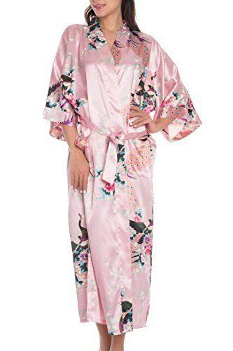 3713375db1290 Kimono Rétro Peignoir Japonais Robe De Pyjama Femme Nuisette - Robe de  chambre Longue Imprimé -