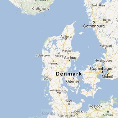 rendering of denmark in google satellite maps view
