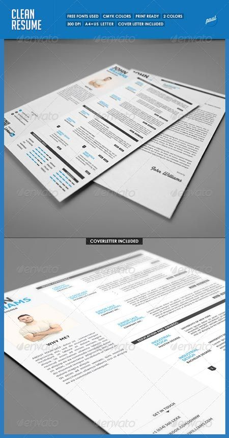 GraphicRiver Clean Resume Vol.1 5282934