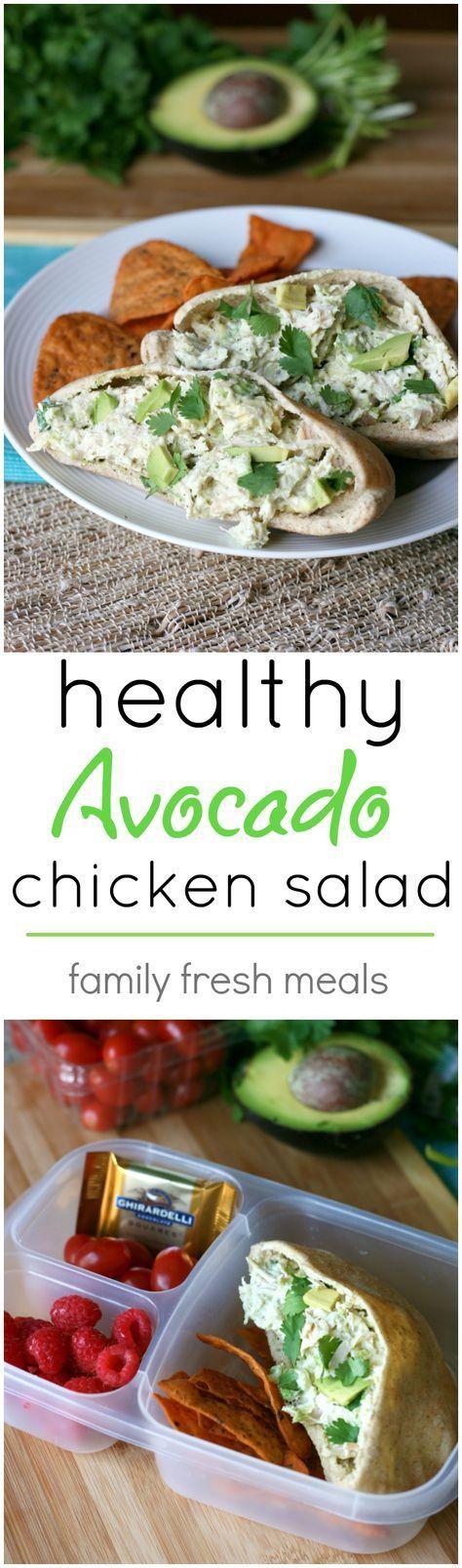 Healthy Avocado Chicken Salad Recipe - If you love chicken salad and avocados…