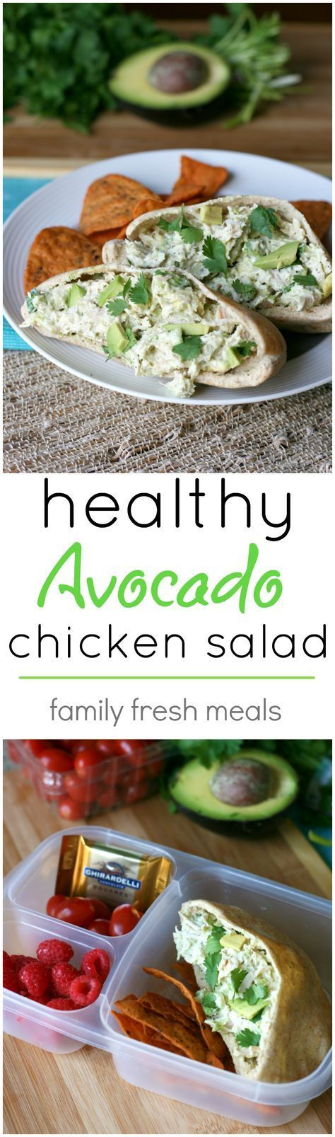 Healthy Avocado Chicken Salad Recipe - If you love chicken salad and avocados…