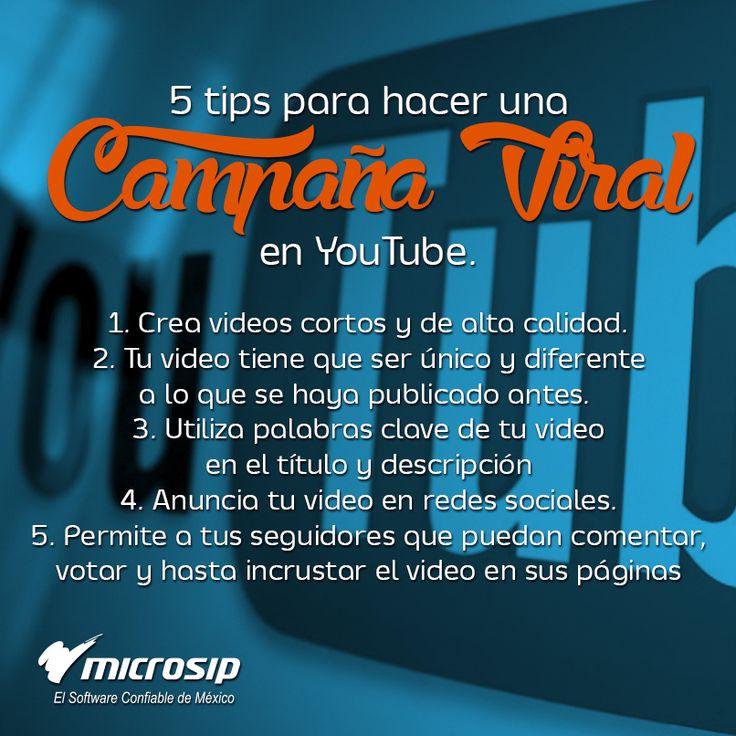 #TipsMicrosip 5 tips para hacer una campaña viral en YouTube