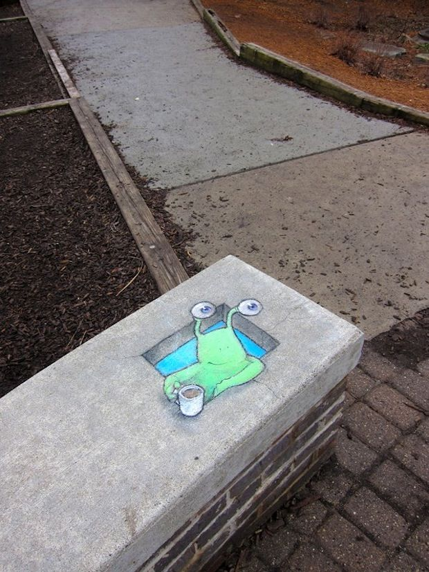 STREET ART UTOPIA » We declare the world as our canvasStreet Art by David Zinn 64425 » STREET ART UTOPIA