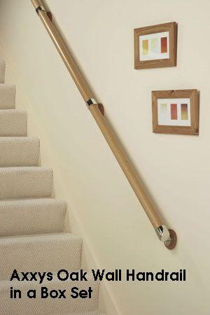 Best Oak Wall Handrail In A Box Set Chrome Stair Banister 400 x 300
