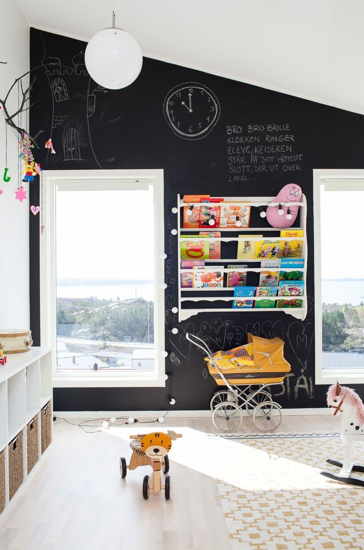 full black chalkboard wall