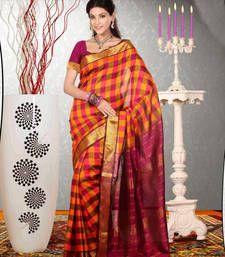 Buy Red Printed dupion_silk saree with blouse banarasi-saree online