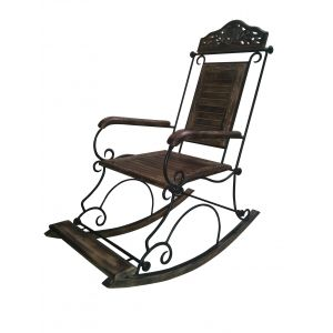 Komforts Wood And Wrought Iron Collection Rocking Chair