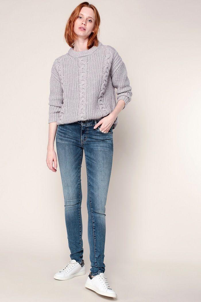 Levi's Jean 711 skinny antiqued pas cher prix Jeans Femme Monshowroom 109.00 €